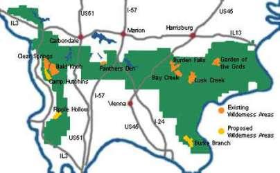 wilderness map national areas shawnee forest knob bald illinois