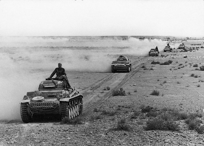 German Panzers IIs in North Africa