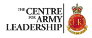 Centre for Army Leadership leadership training resources