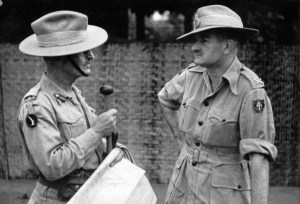 Maj Gen Tennant Cowan (Commander 17th Indian Division) and Lt Gen Slim (Commander 1 Burma Corps). Slim created a mission command culture