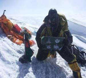Chris Boote summits Everest