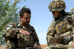 A British Army Field Officer delivering organisational and team leadership