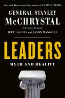 Leaders Myth and Reality McChrystal Book