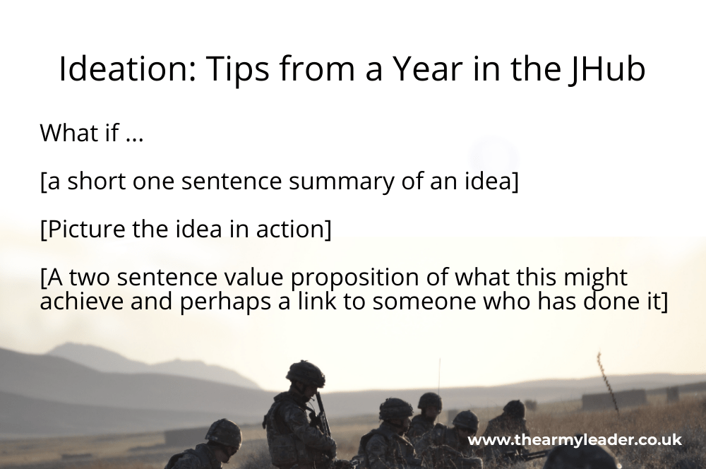 Ideation: Tips from a Year in the JHub