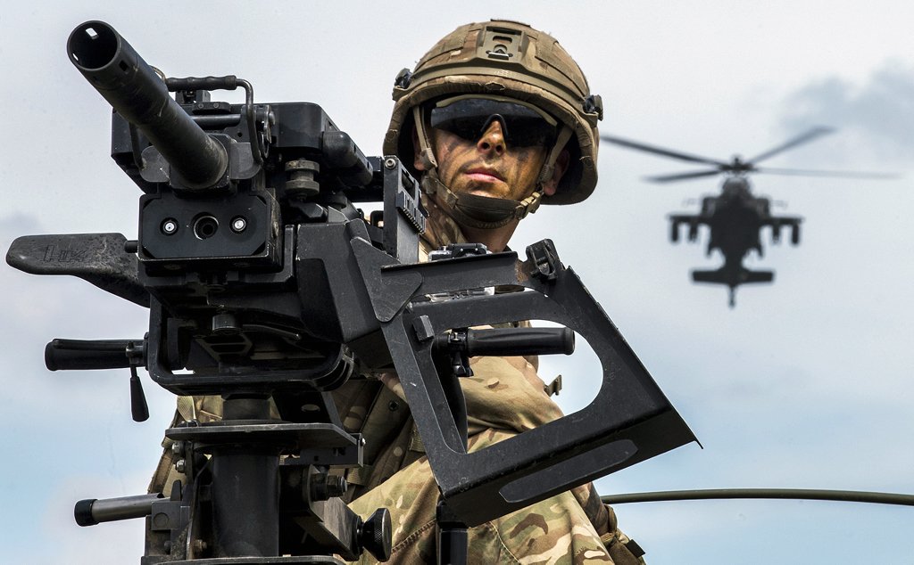 Soldier with an AH64. Get Your AR Right – Every Year
