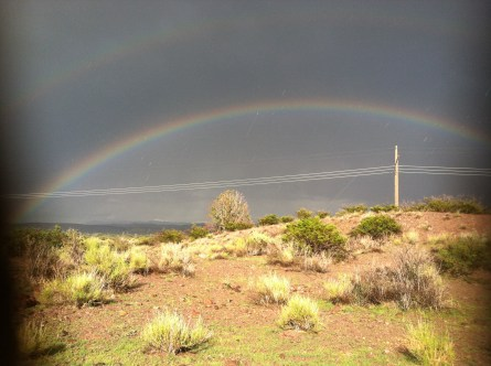 This rainbow greeted us at our capground