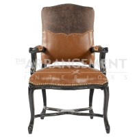 King Leon Leather Chair | Rustic Western Furniture Store