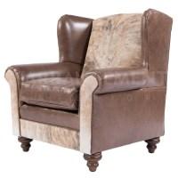 NEW! Pub Wingback Chair | Rustic Western Furniture Store