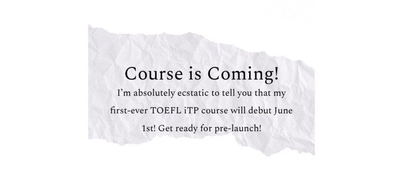TOEFL iTP Course Coming to Podia!
