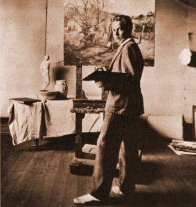 Andrew Wyeth in His Studio
