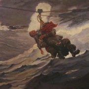 Calvin McManamy, Age 18, Oil on Canvas Panel