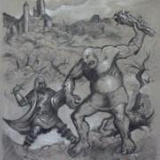 Alex Pederson, Age 17 Charcoal Drawing