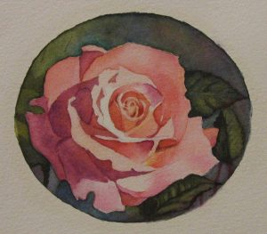 Watercolor painting of rose