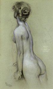Hubert James Draper, Charcoal Study