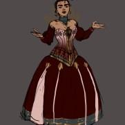 Mick Kaufer, Instructor, Dress Design Variation 3, Digital Costume and Character Design