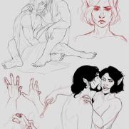Lilliah Campagna, Couple, Digital Drawing