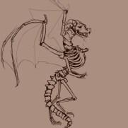 Mick Kaufer, Instructor, Dragon Skeleton, Digital Drawing