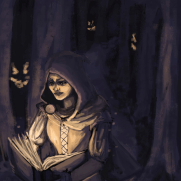 Mick Kaufer, Instructor, In The Woods, Age 16, Digital Painting