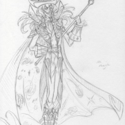 Eliza Baker, Guest Instructor, Mr. Magick Character Design, Age 18, Pencil on Paper