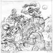 Bill Hauser, Instructor, LP.CD Concept Art, Pencil on Paper