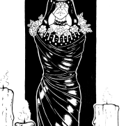 Lilliah Campagna, Instructor, Goddess 2, Digital Black and White Illustration