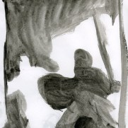Alex Pederson, Age 17, Ink Wash Notan Study