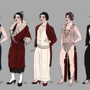 Mick Kaufer, Instructor, 1920's Flapper, Digital Clothing Design