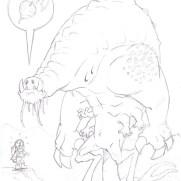 "Matt Wendt, Guest Instructor, ""Beet?"", Pencil Study on Paper"