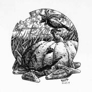 David Witt, Instructor, DWitt's Inktober - 2014, Book Illustration, Pen & Ink Drawing