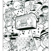 Matt Wendt, Guest Instructor, PEEP! Boom Box Comic Strip Page, Pen & Ink on Paper