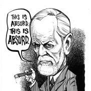 David Witt, Instructor, Famous Last Words - Sigmund Freud, Pen & Ink & Brush on Paper