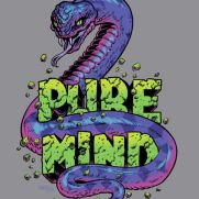 Bill Hauser, Instructor, PURE MIND T-Shirt Design, Ink and Photoshop