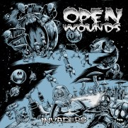 Bill Hauser, Instructor, Open Wounds LP/CD Cover, Ink and Photoshop