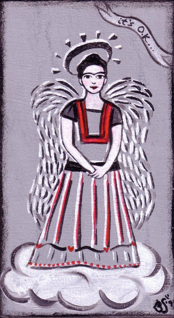 """""""FRIDA ANGEL"""" folk art by Bethann Shannon"""