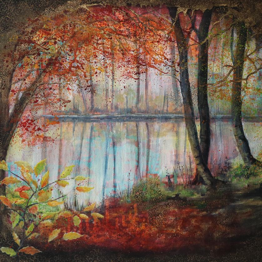 autumn trees original painting