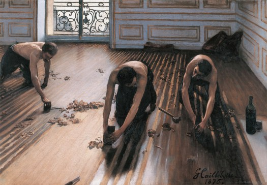 """The Floor Scrapers,"" Gustave Caillebotte."