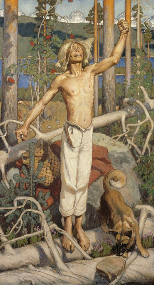 Painting by Akseli Gallen-Kallela, depicting a...
