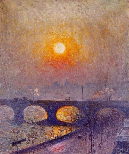"""""""Sunset Over Waterloo Bridge"""" by Emile Clause."""