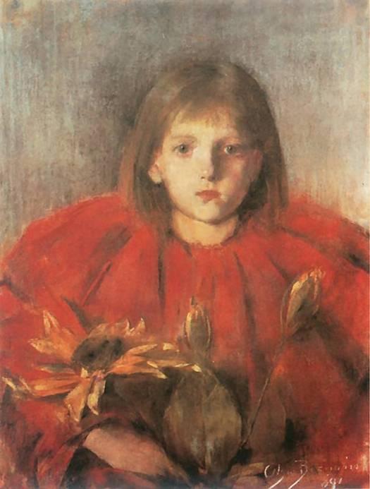 """""""Sunflower"""" by Olga Boznańska"""