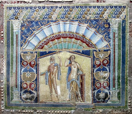 English: Herculaneum. Ancient Roman mosaic wit...