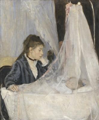 Berthe Morisot, The Cradle, 1872, oil on canvas, Musée d'Orsay image