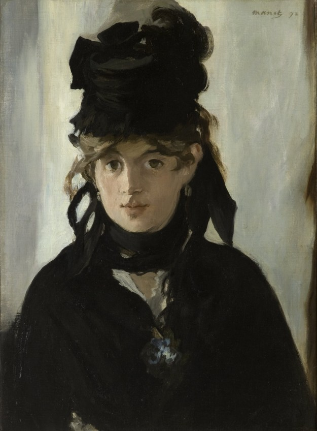 Berthe Morisot with a Bouquet of Violets, Edouard Manet, 1872