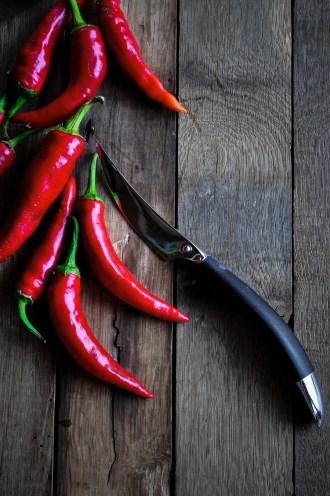 Chillies and knife 2