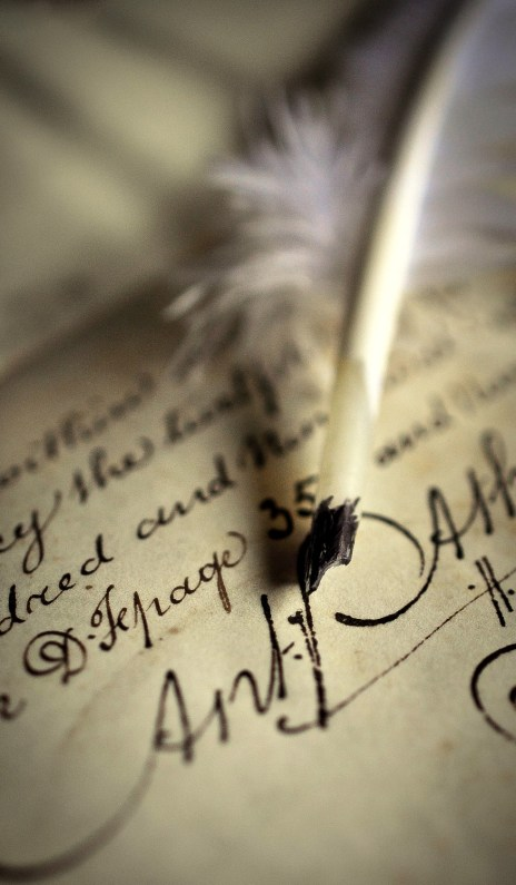 Parchment and quill B1