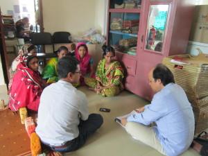 group discussation  with prducer of Basha enterprise