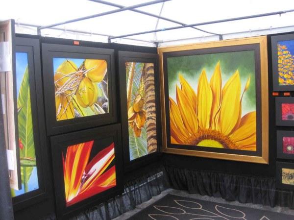 Outdoor Art Show Tent Displays