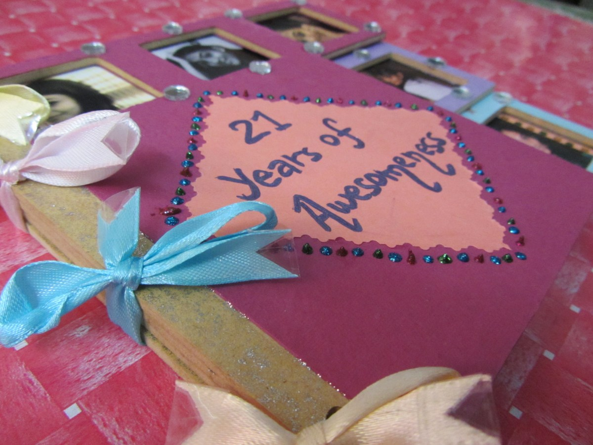 Scrapbook For My Best Friend S Birthday The Artful Butterfly