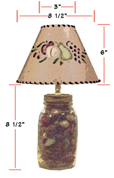 Mason jar lampshades the artful crafter mason jar with lampshade dimensions mozeypictures Images