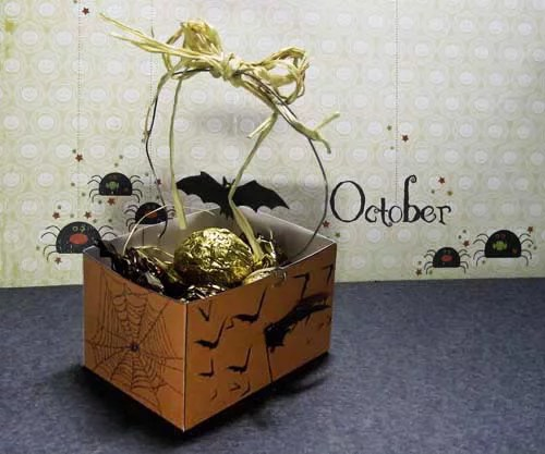 Bat Out o' Hell Halloween Treat Basket