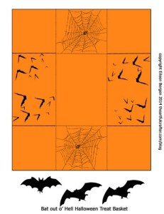 Halloween Treat Basket template with Design